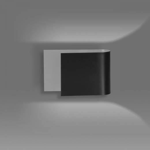 Moderne Wandleuchte Schwarz Metall up and down