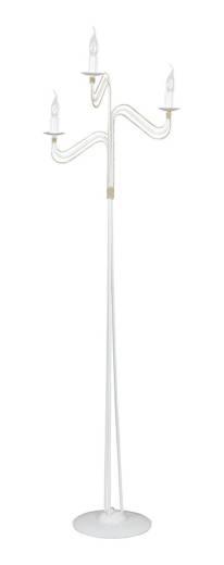 Stehlampe Weiß Gold Antik 162cm 3-flammig E14