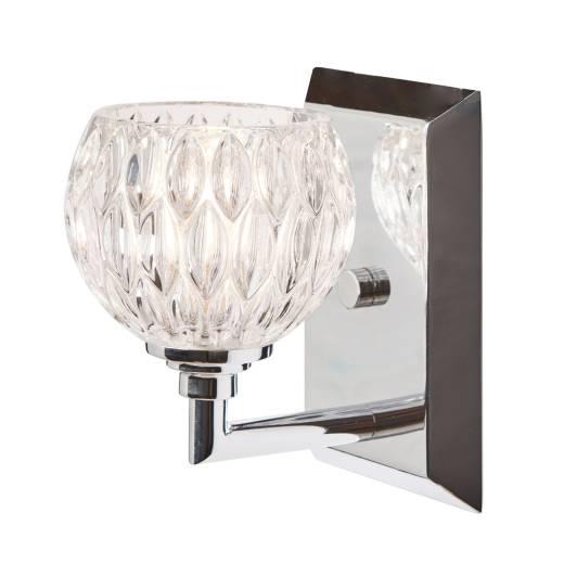 Badezimmer Lampe IP44 Glas Schirm mit LED MAIRA