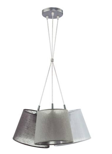 Hängelampe Esstisch Grau Stoff 3-flammig Modern