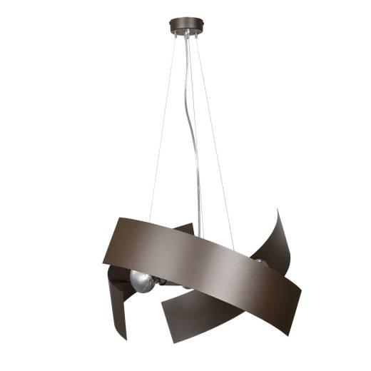 Design Pendelleuchte Metall Braun höhenverstellbar