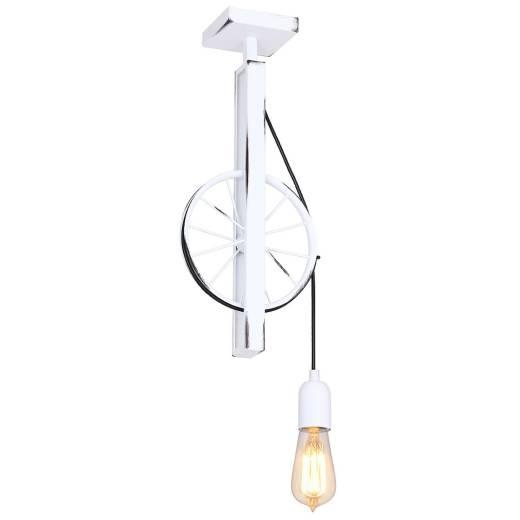 Außergewöhnliche Deckenlampe SCOPPIO Weiß Wohnraum