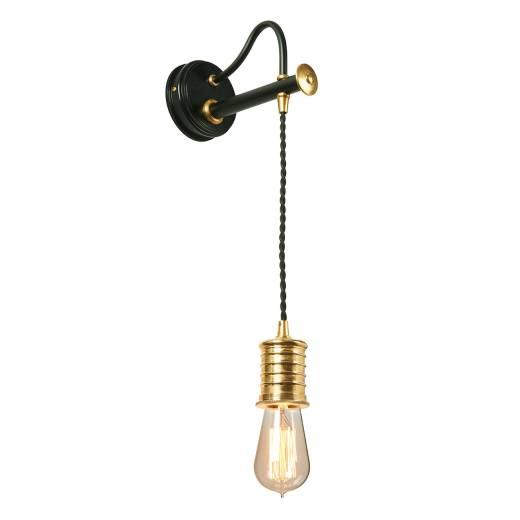 Wandlampe COLGAR Messing Schwarz Vintage Lampe