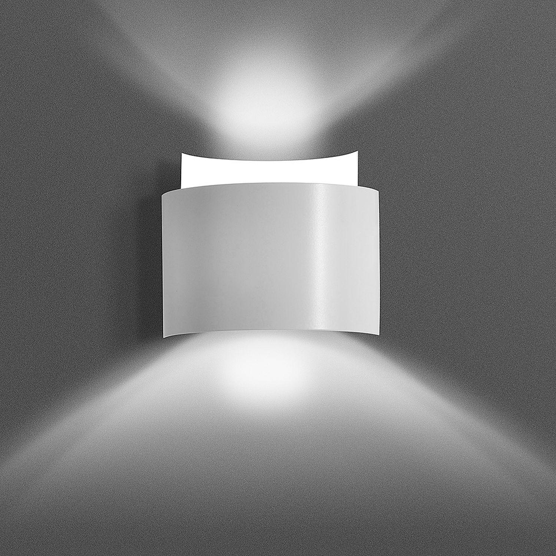 Wandleuchte Up and Down Weiß Metall Design Modern