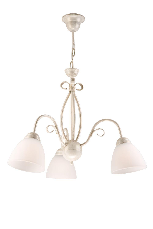 Hängeleuchte Shabby Weiß Esszimmer Metall Lampe