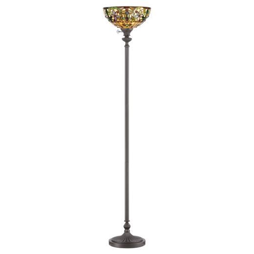Stehleuchte FARFALLA 6 Bronze 178cm Tiffany Lampe