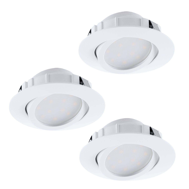 Einbau LED Spotstrahler Pineda Weiß 3er-Set Dimmbar