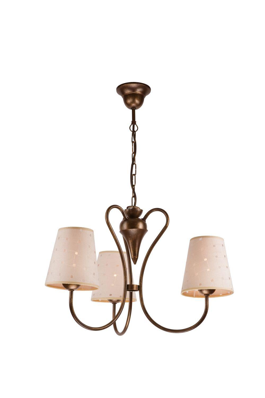 Schirm Kronleuchter Landhaus Esstisch Stoff Lampe