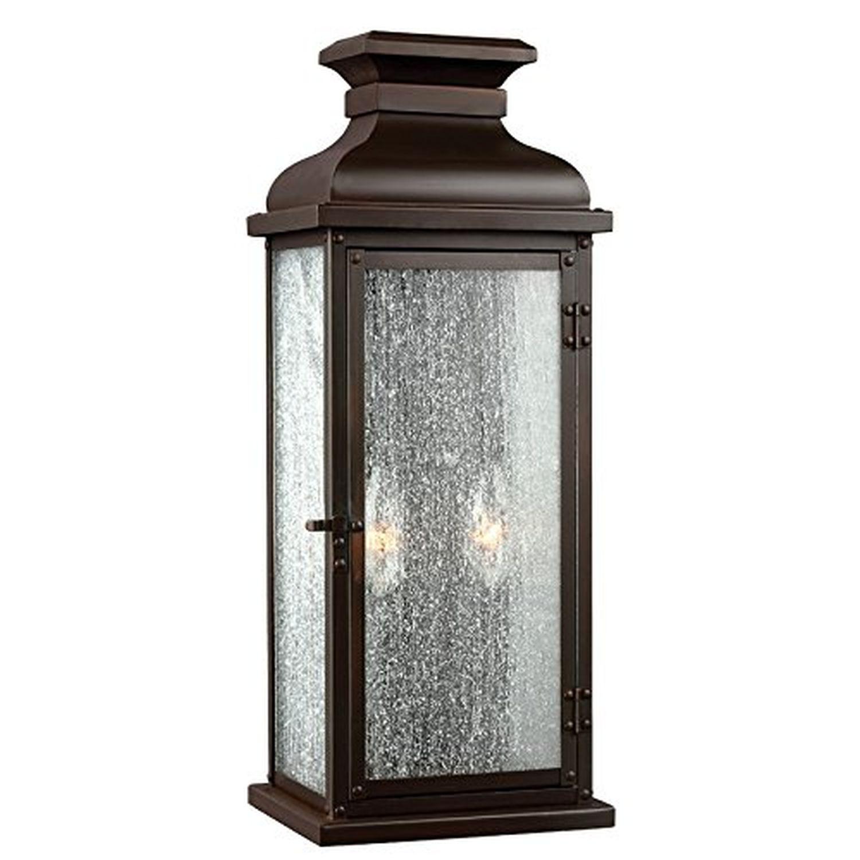 Außenwandlampe Edelstahl Glas Antik Haus Tür IP44