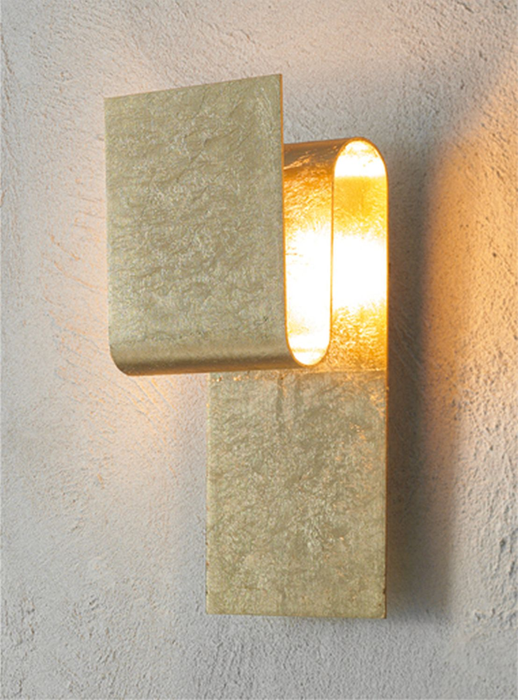 Escale - 34050155 Edle Wandleuchte Blattgold exklusives Design FOLD