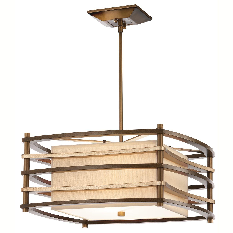 Deckenleuchte KIKI Bronze B:46cm Asia Design Lampe