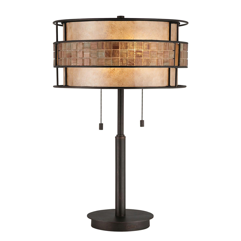 Tischleuchte LARA Glas Metall Fleisen 64cm Lampe