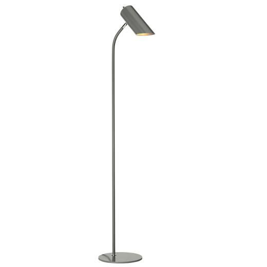 Stehleuchte LEYRE Grau Nickel 145cm Bodenlampe