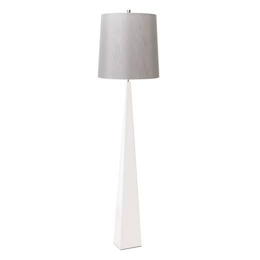 Stehlampe Wohnzimmer Weiß Grau Modern Design 181cm