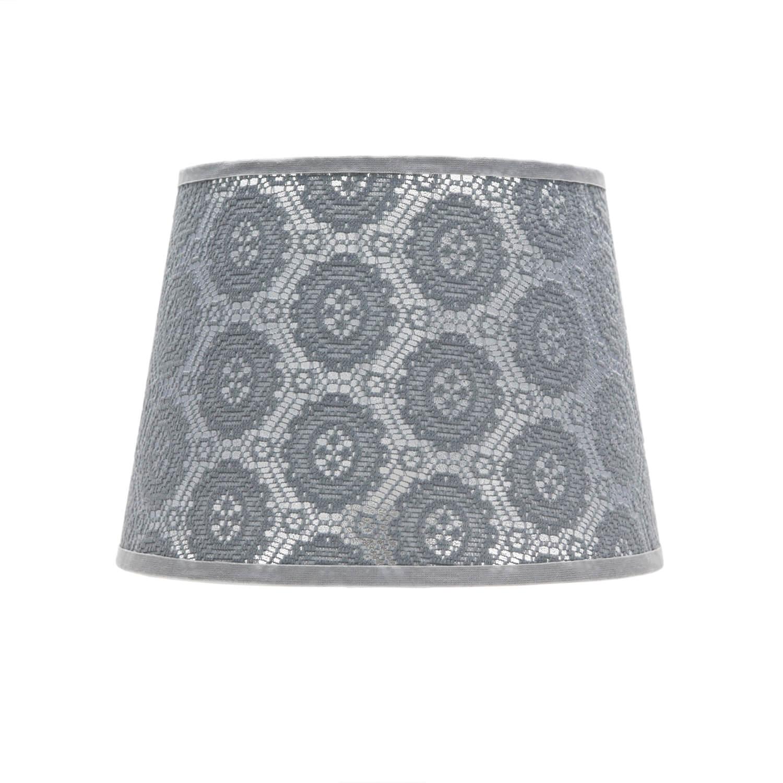 Lampenschirm Grau klein E14 Tischlampe aus Spitze