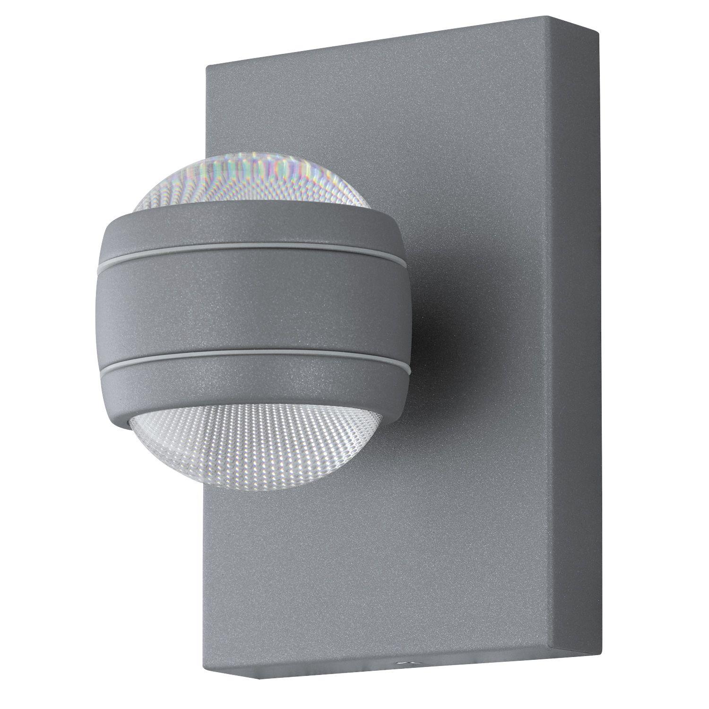 Kugel Wandleuchte LED Außen Sesimba Silber 2-Flmg