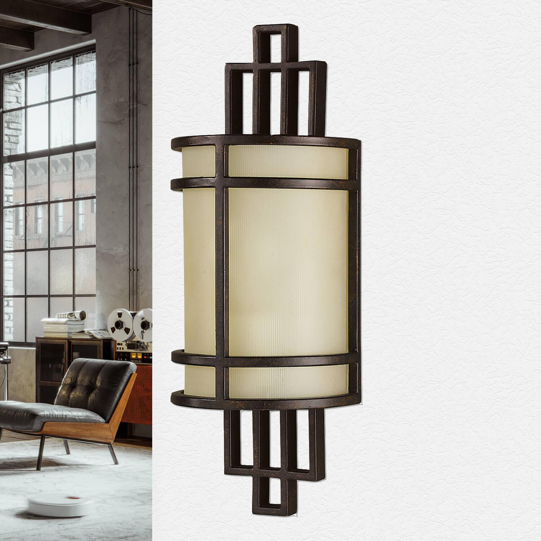 Wandlampe SHOJI Bronze Vintage Leuchte Wohnzimmer