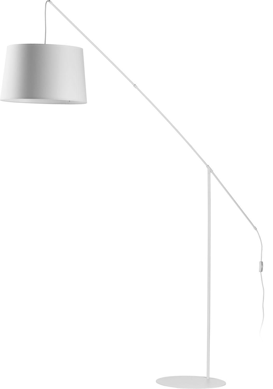 Stehlampe H:2m Design Weiß Galgenarm Lampe PASA