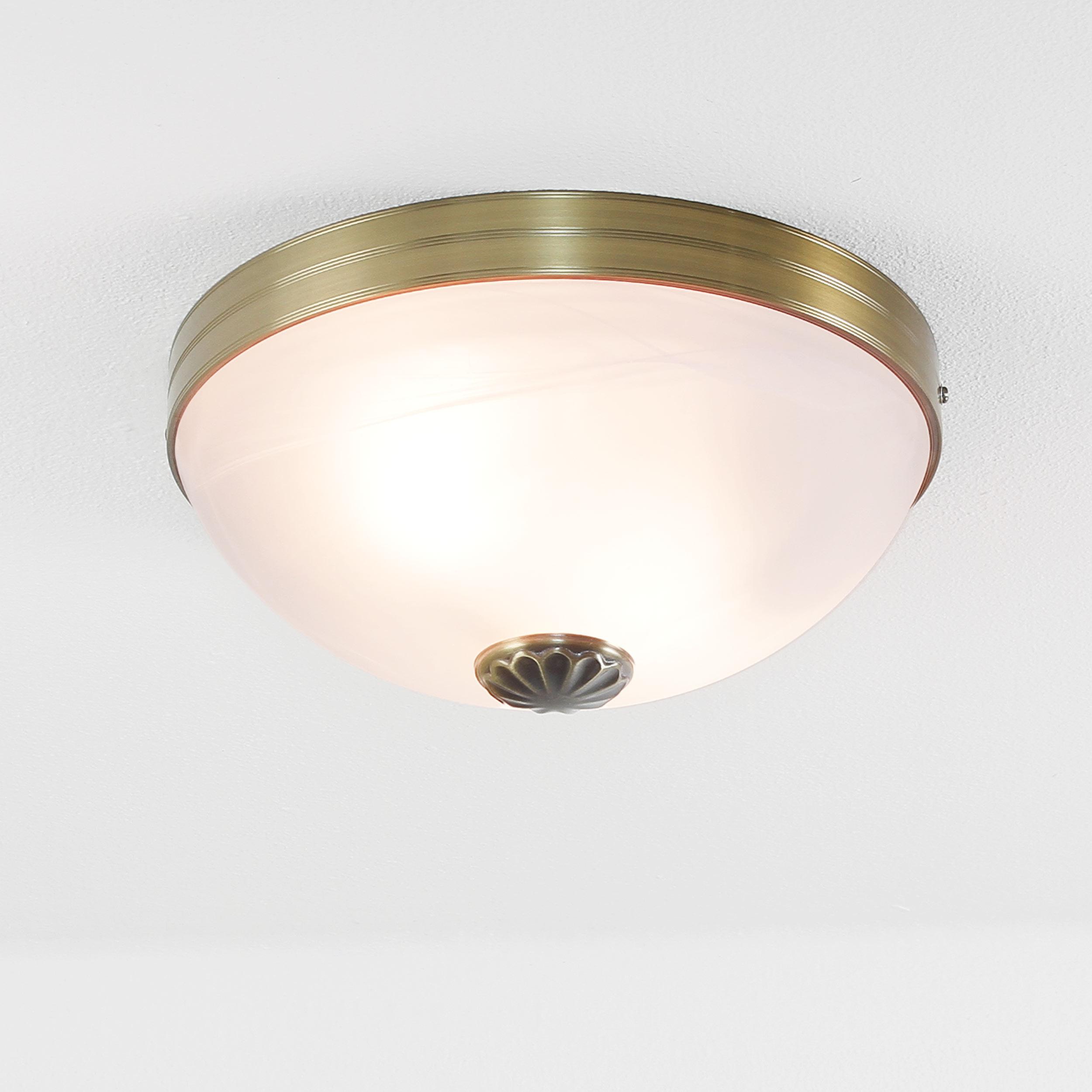 Jugendstil Deckenlampe Glas 2xE27 Ø31cm ORCHIDEA