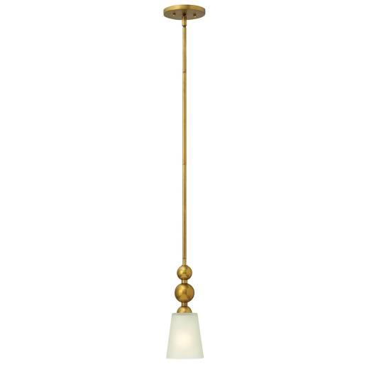 Deckenleuchte ROMINA Messing Ø12cm kürzbar Lampe