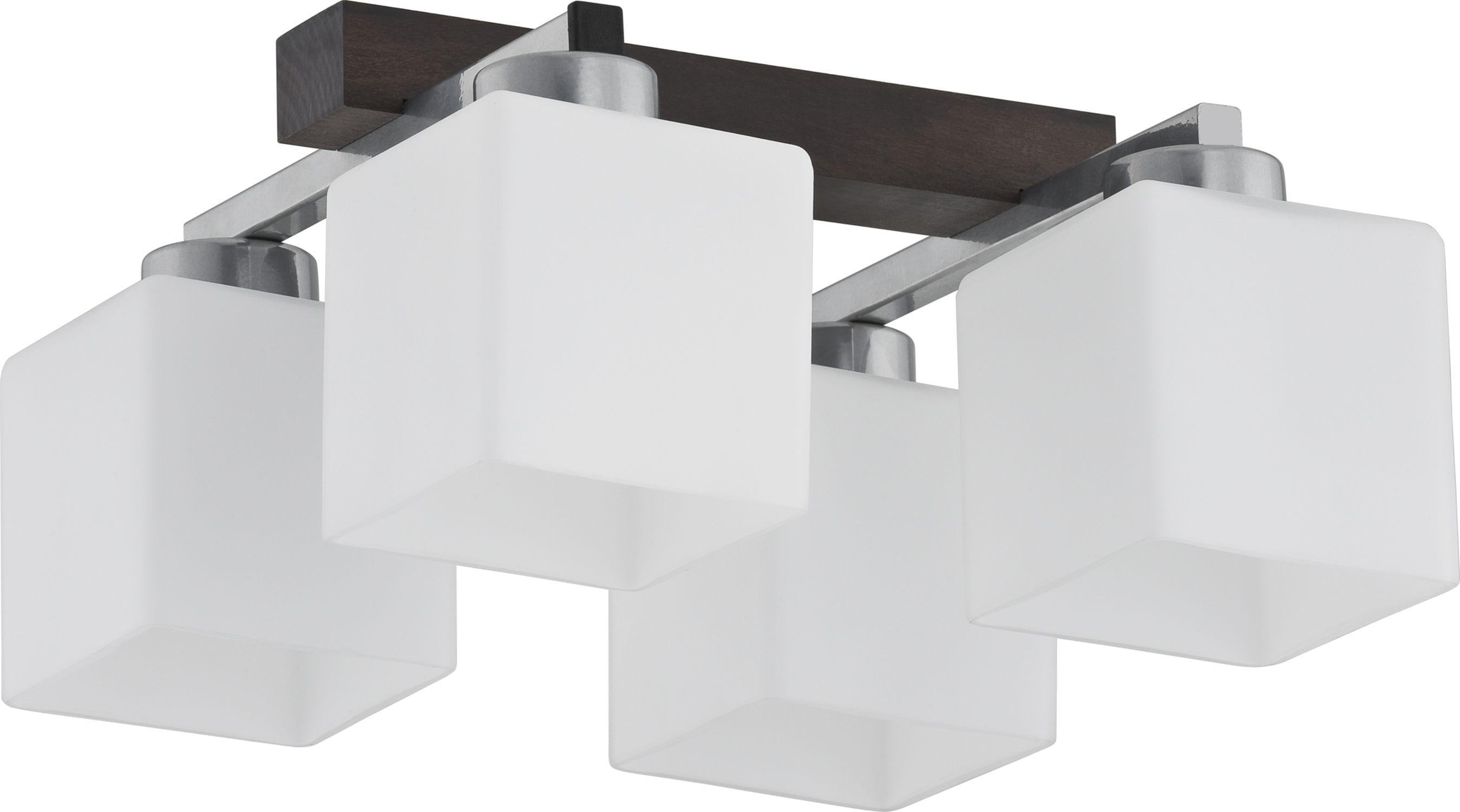 Deckenleuchte Holz Weiß 4-flmg