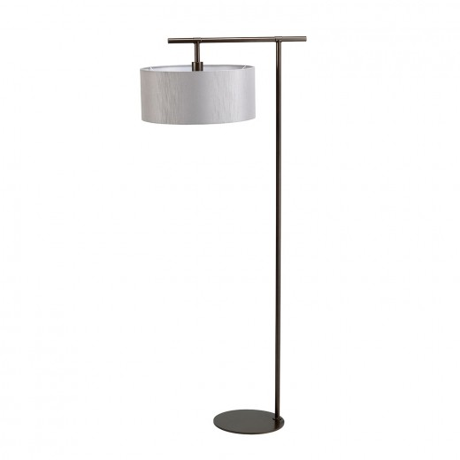 Stehlampe Grau 162cm Stoff Wohnzimmer Loft Design