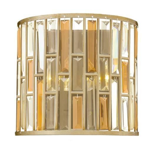 Art Déco Wandlampe PRISM Blattsilber Design Lampe