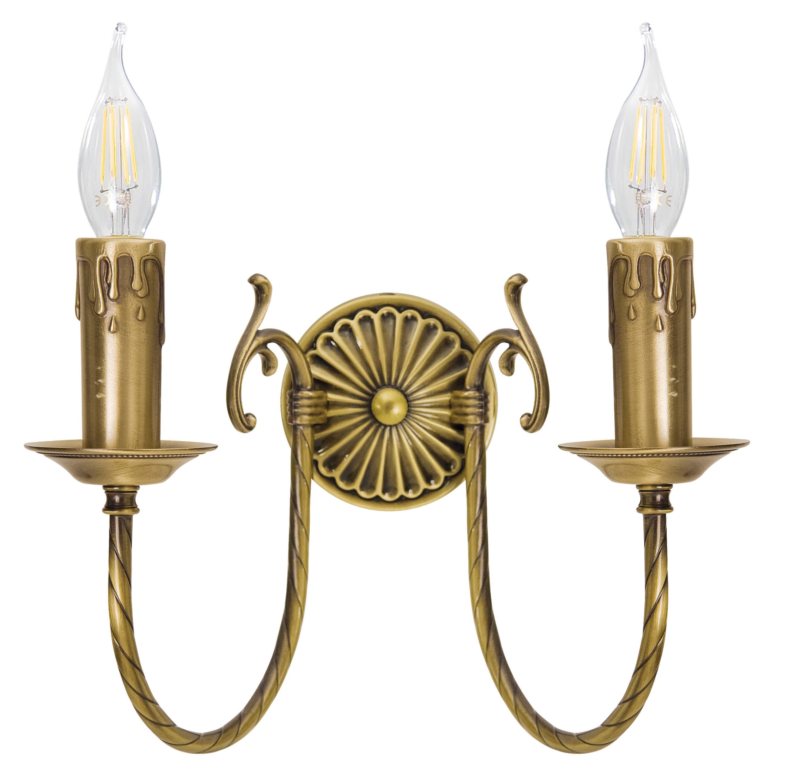 Jugendstil Wandlampe Bronze Hell