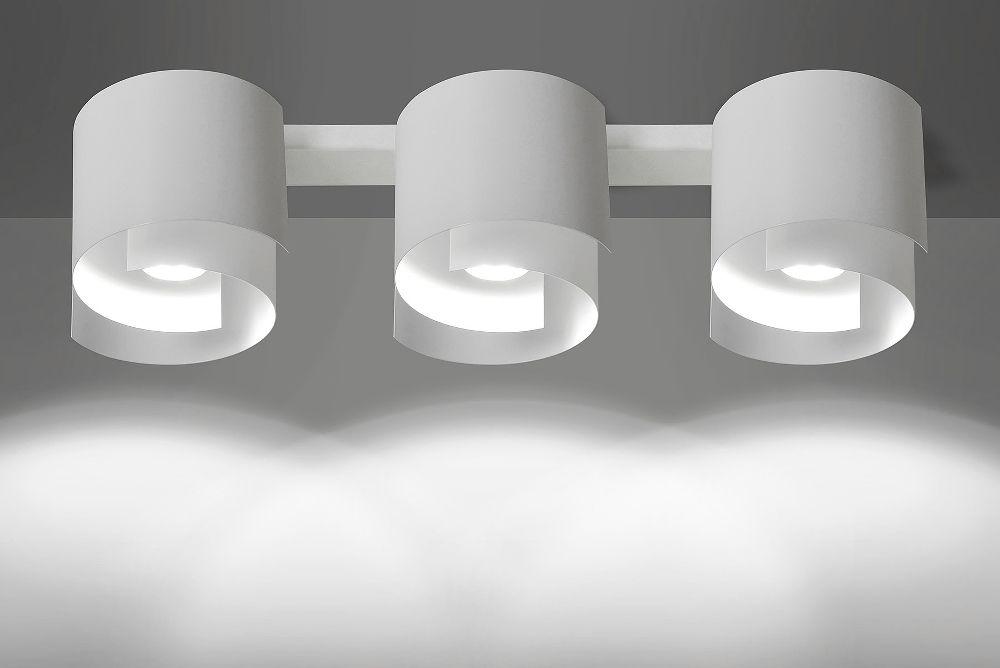 Deckenleuchte Weiß Metall Design rund 3x GU10