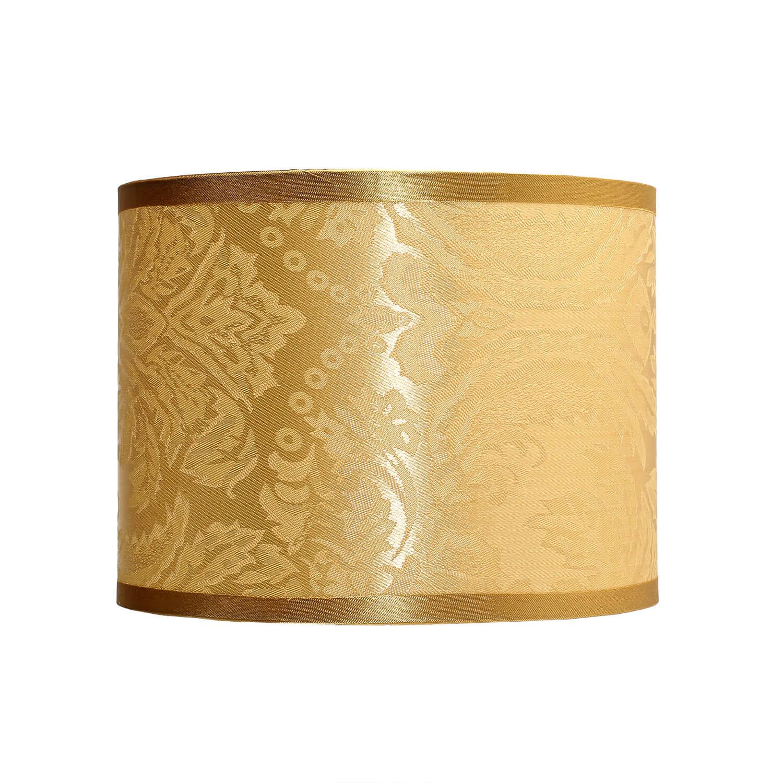 Stoff Lampenschirm Beige Barock Muster für E14 Tischlampe