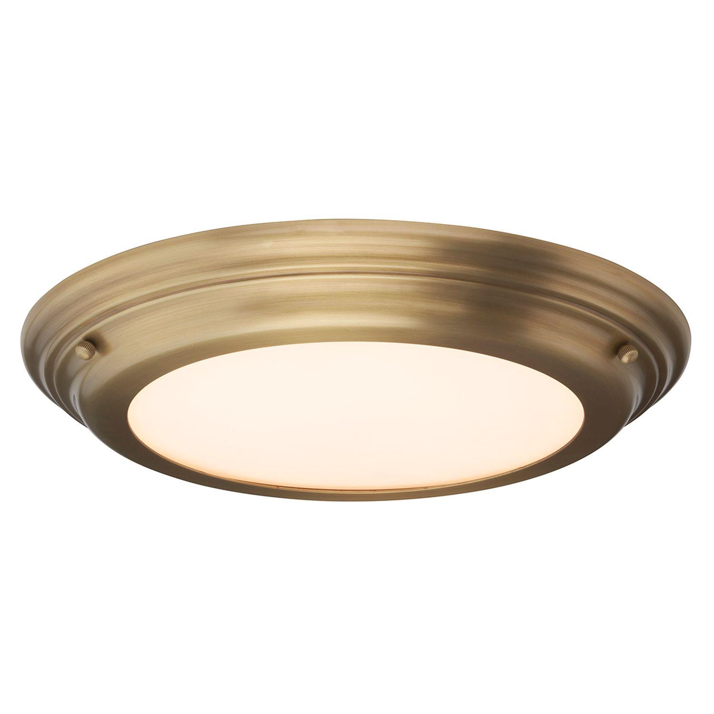 LED Deckenleuchte Bad ANISA Messing Ø36cm Lampe