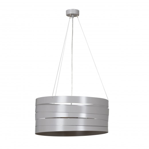 Pendelleuchte DONNA Grau verstellbar Metall Ø45cm