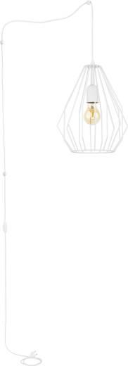 Weiße Hängelampe mit Stecker lang 5,5m mit Schirm