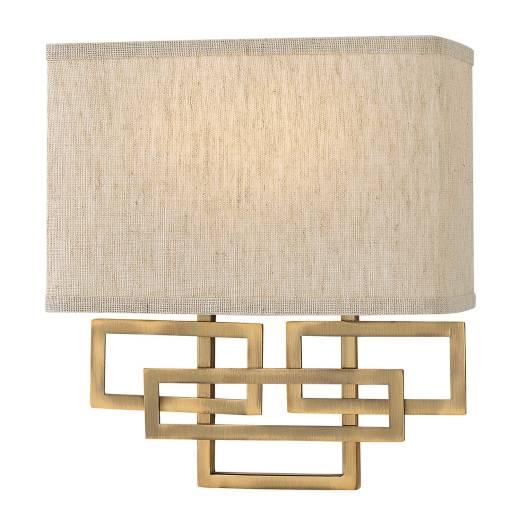 Dekorative Wandlampe CHINO Bronze Lampe Wohnzimmer