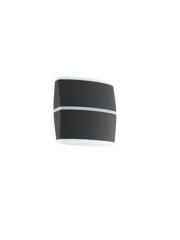 Wandleuchte LED Außen Perafita Schwarz 2-Flmg