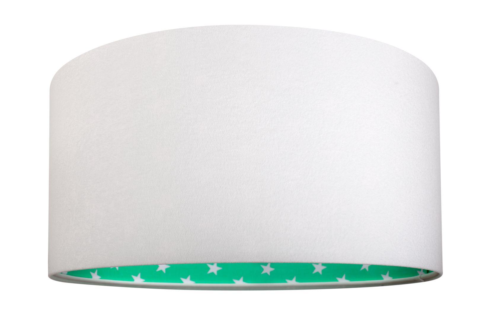 Hängeleuchte Kinderlampe Weiß Grün Stoff BECKA