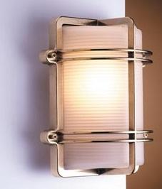 LED Wandleuchte Außen Messing Antik IP54 Haus