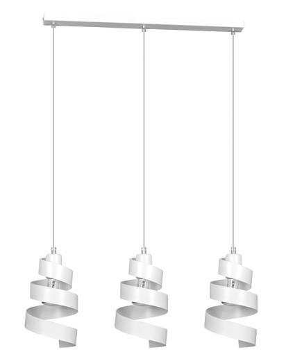 Design Pendelleuchte Weiß Metall 3-flammig E27