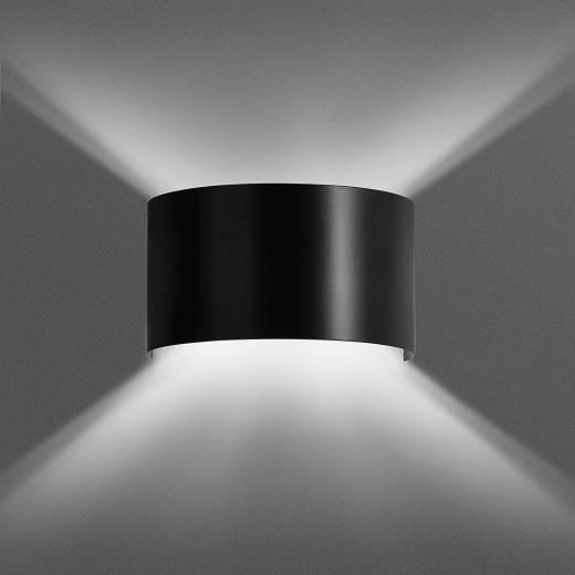 Wandlampe Schwarz Up Down Flur Wohnzimmer Treppe