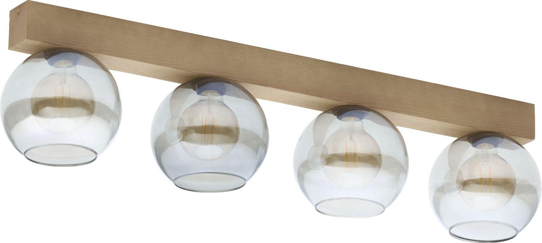 Deckenleuchte ARTWOOD Holz Glas L:71cm Deckenlampe