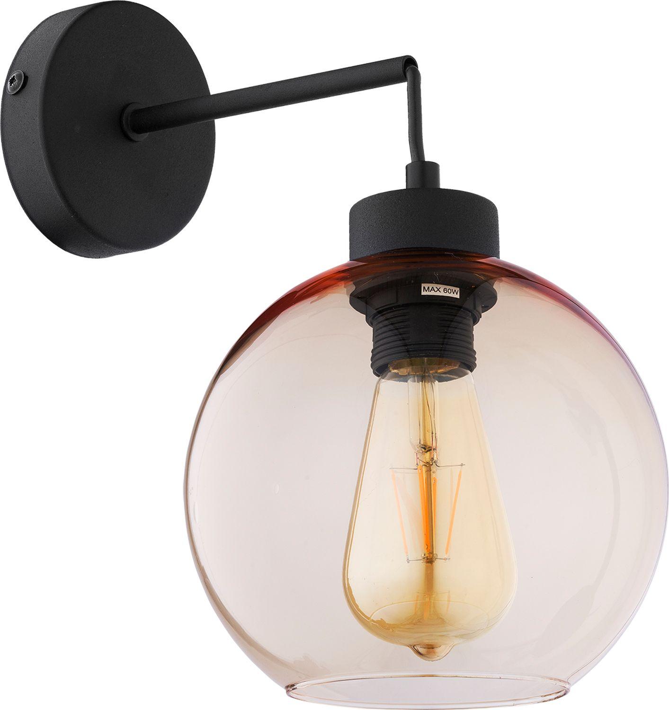 Wandleuchte KALETE Bernsteinfarben Flur Lampe E27