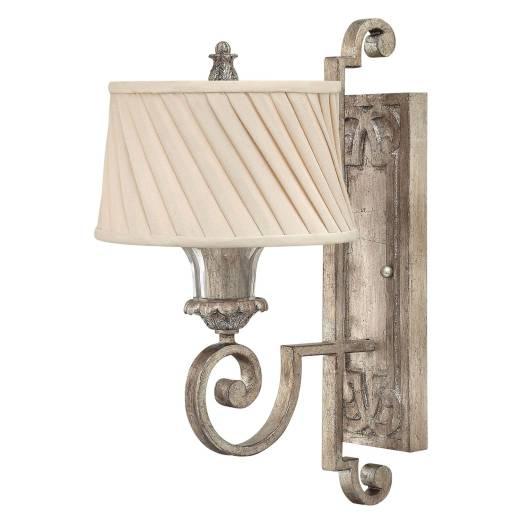 Wandlampe AGED Creme Blattsilber Leinen Lampe