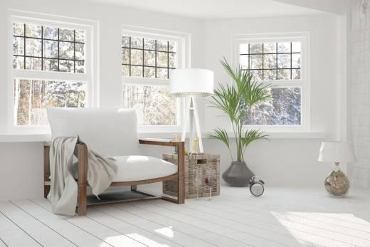 Stehlampe Holz Weiß Beige Retro Dreibein 145cm