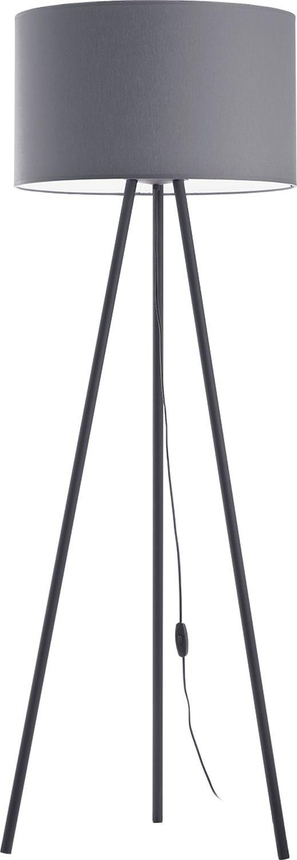 Stehlampe TREVOR in Graphit 149cm Büro Sofa Lampe