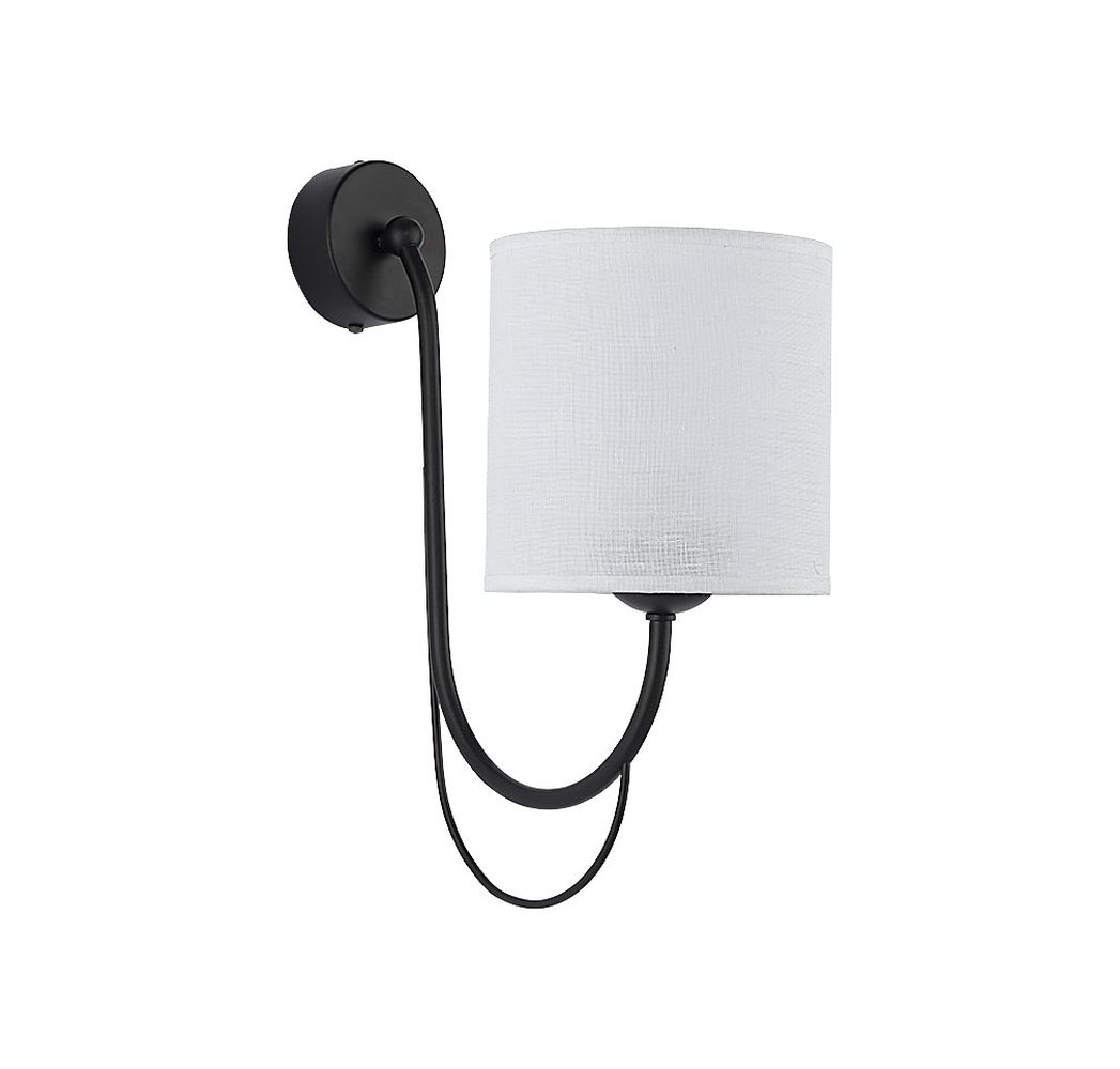 Wandleuchte Weiß Schwarz SALNIO Wandlampe Bett