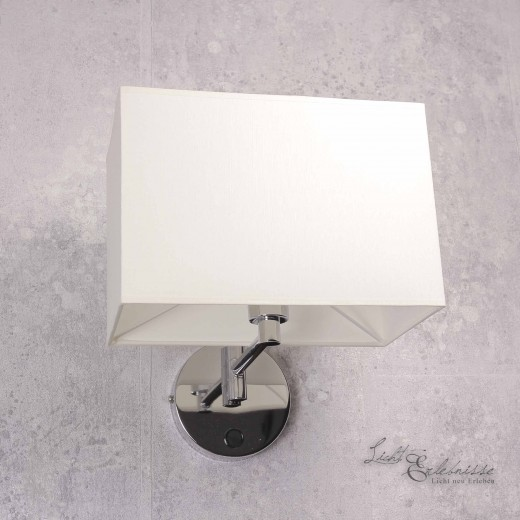 Moderne Wandleuchte Stofflampe E14 HOTEL
