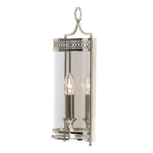 Rustikale Wandleuchte KUPOLA Nickel Ornament Lampe