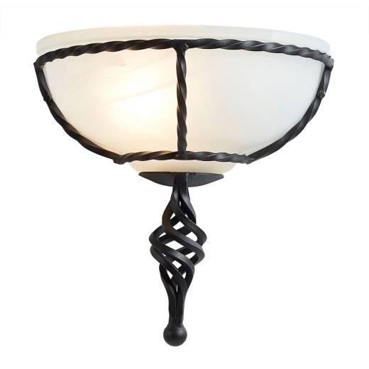 Wandleuchte ANOUK Schwarz B:26cm Rustikal Lampe