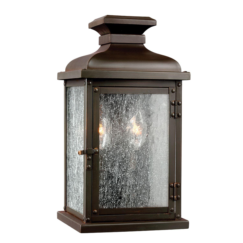 Wandlampe Außen Vintage Kupfer antik eckig IP44