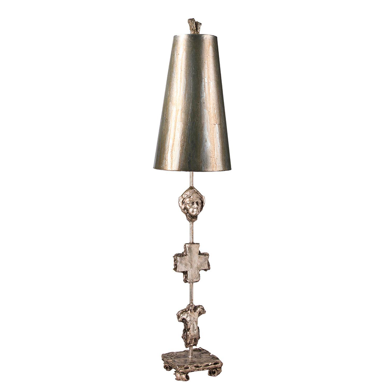 Tischlampe EXTRATO Blattsilber 102cm Bodenleuchte